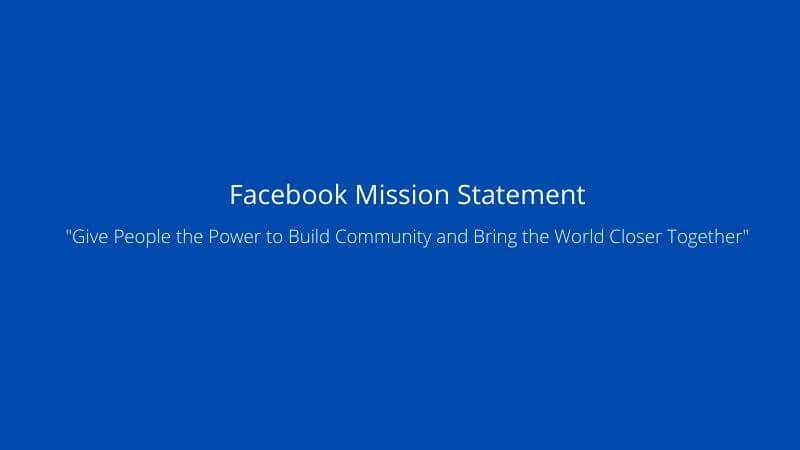 facebook mission statement in image