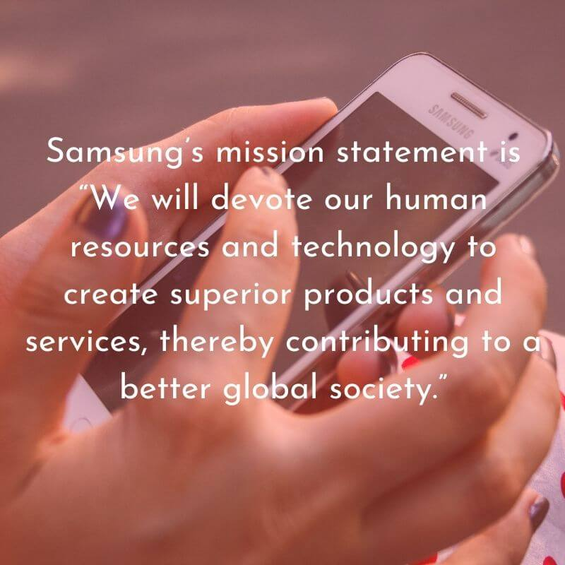 Samsungs mission statement HD Text Image Download