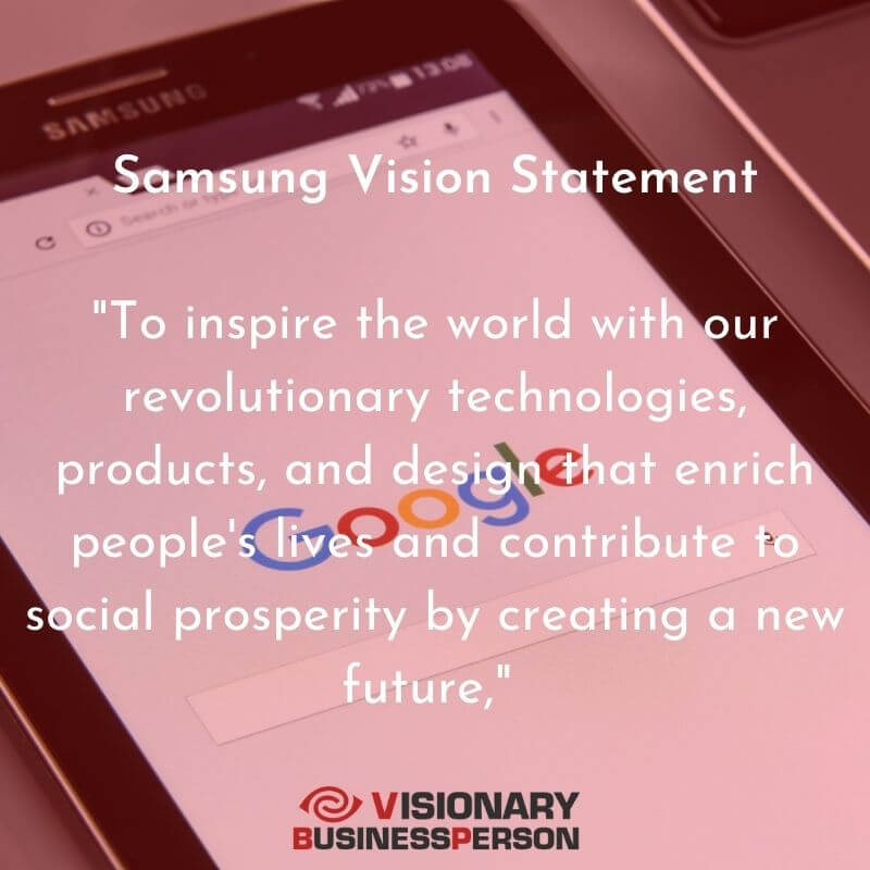 samsung vision statement HD Text Image Download